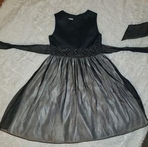 Girls size 10 fancy black dress